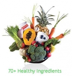 the shakeology shake has 70+ healthy whole food ingredients