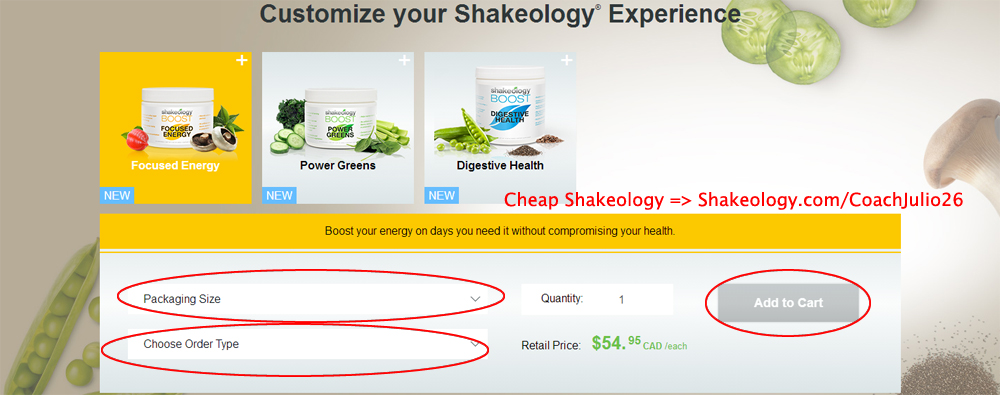 Shakeology Canada Upgrade: Customize your Shakeology Experience