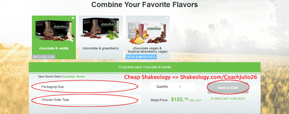 Shakeology Canada Upgrade: Combine Your Favorite Flavors