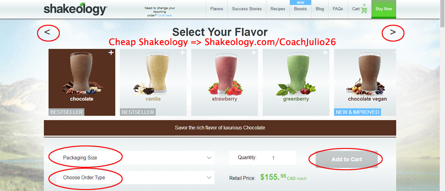 Shakeology Canada: Select Your Shakeology Flavor