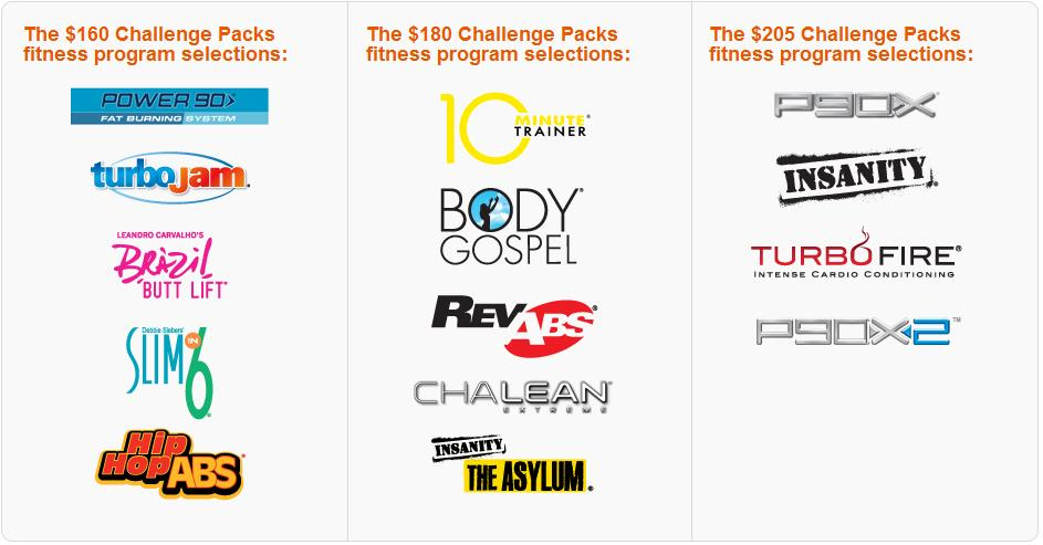 team beachbody coach challenge packs