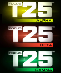 3 Phases to Focus T25 workout