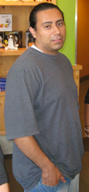 Julio Diaz at his heaviest! Just over 200 pounds in 2009.