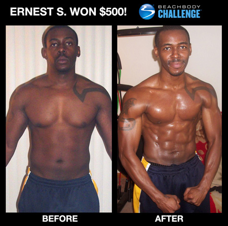 Ernest S: Insanity workout before and after