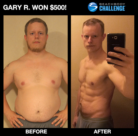 Gary R: Ernest S: Insanity workout before and after