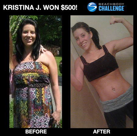 Kristina J: Insanity workout results