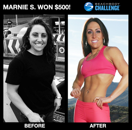 Marine S: Insanity workout before and after