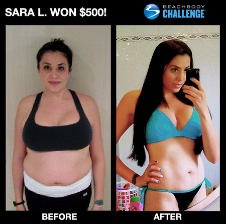 Sara L: Insanity workout before and after