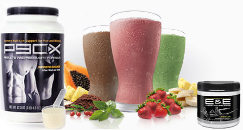 Recommended P90X/P90X3 supplements: Results & Recover, Shakeology, E&E