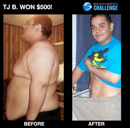 TJ B. Insanity workout before and after