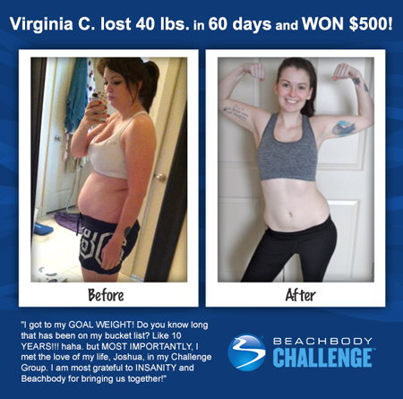 Virginia C: Insanity workout results