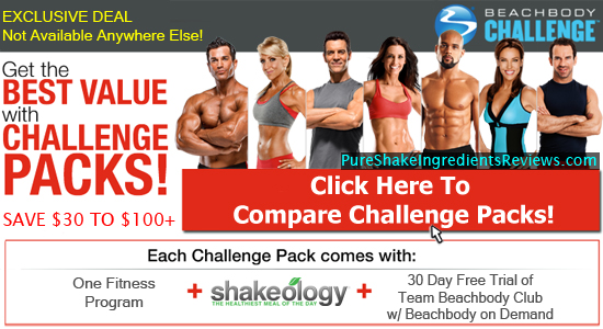Compare Beachbody Challenge Packs