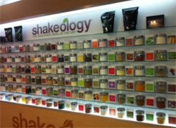 Wall of Shakeology ingredients