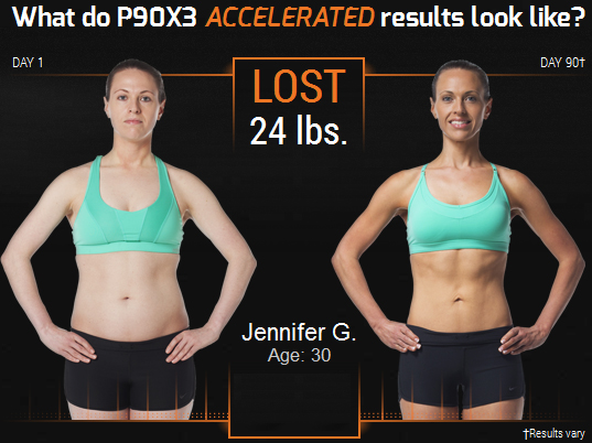 Jennifer P90X3 workout review