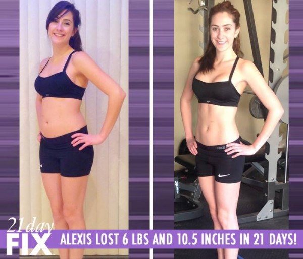 Alexis lost 6 pounds and 10.5 inches in only 21 days with the 21 Day Fix!