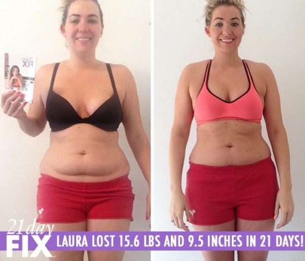 21 Day Fix workout review: Laura lost 15.6 pounds and 9.5 inches in only 21 days!