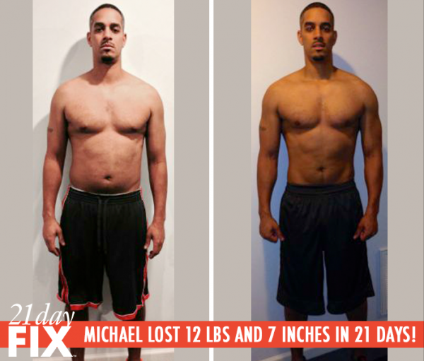 21 Day Fix review: Michael lost 12 pounds and 7 inches in 21 Days!