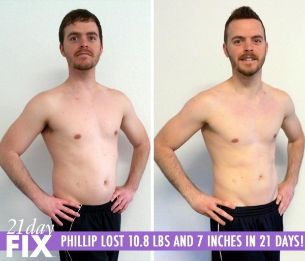 21 Day Fix workout review: Phillip lost 10.8 pounds and 7 inches in only 21 days!