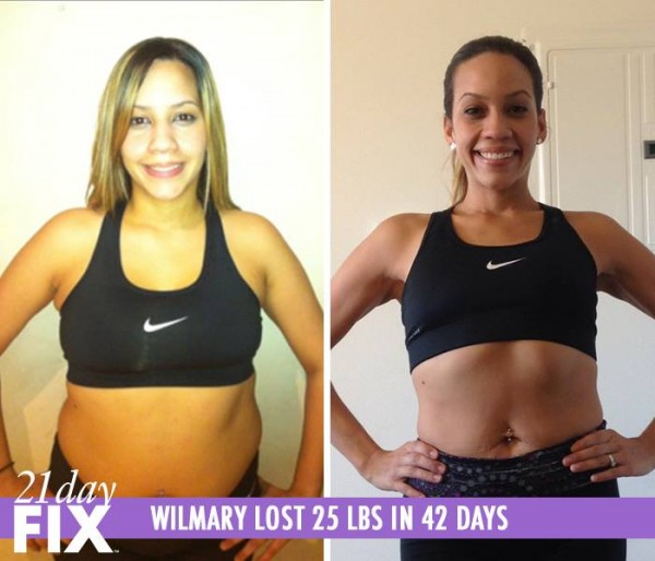 Wilmary lost 25 pounds in 42 days with the 21 Day Fix!