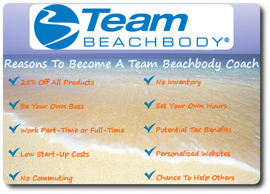 reasons to become a beachbody coach