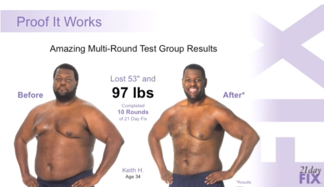 21 day fix review:  before and after