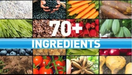 Shakeology is created with 70+ Whole Food Ingredients