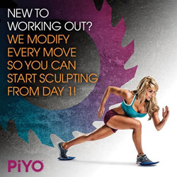 PiYo workout: Moves can be modified. Learn more here: http://www.onesteptoweightloss.com/piyo-workout-results