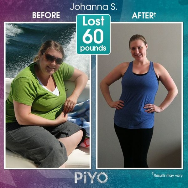 Johanna lost 60 lbs with PiYo Workout! Learn more about the PiYo workout here: http://www.onesteptoweightloss.com/piyo-workout-results