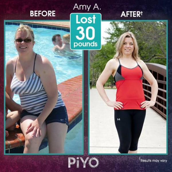 Amy lost 30lbs with PiYo Workout!! Amazing work! PiYo is low impact but getting people extreme results! Learn more here: http://www.onesteptoweightloss.com/piyo-workout-results
