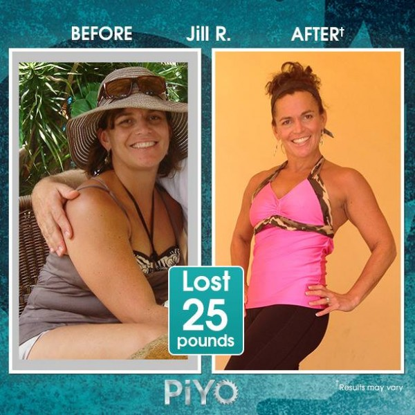 Jill lost 25lbs with PiYo Workout!! It doesn't matter your age or your ability. PiYo can help you lose weight and tone up your body! Learn more here: http://www.onesteptoweightloss.com/piyo-workout-results