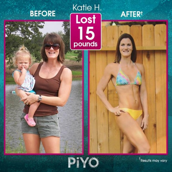 Katie lost 15lbs and now she's rocking some incredible abs because of PiYo! Check out other PiYo results here: http://www.onesteptoweightloss.com/piyo-workout-results