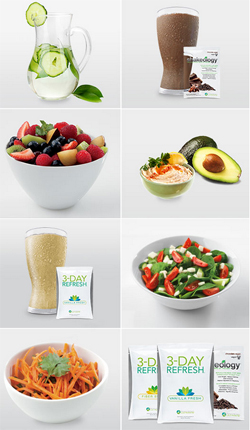 what you'll be eating in the 3 day refresh