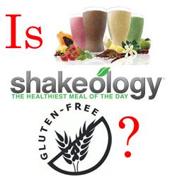 is shakeology gluten free?