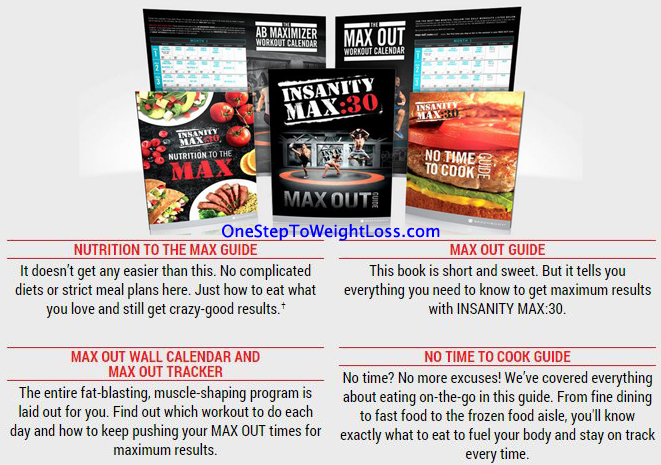 Insanity MAX 30 Nutrition Guide and Supporting Material