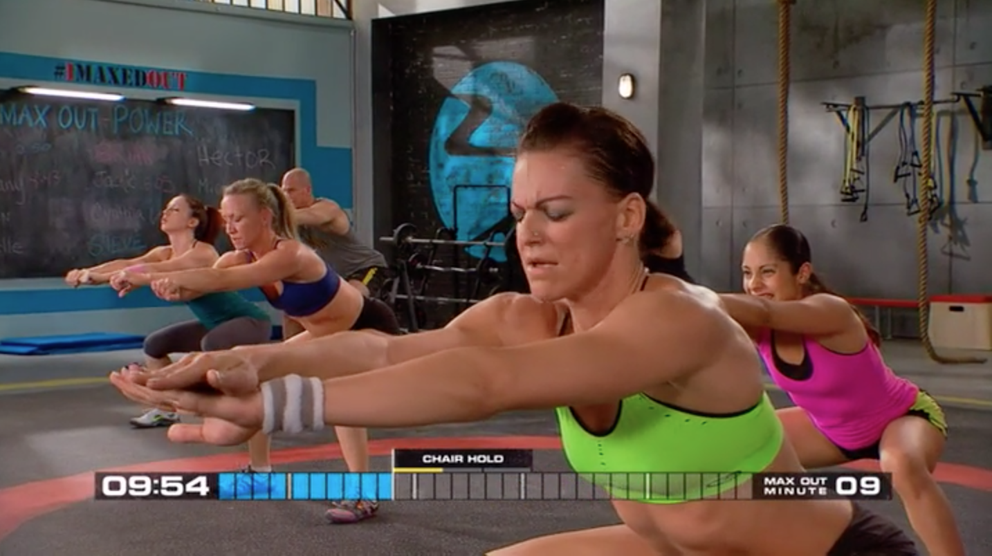 Only 10 minutes into Insanity MAX 30 and people are already feeling the burn!