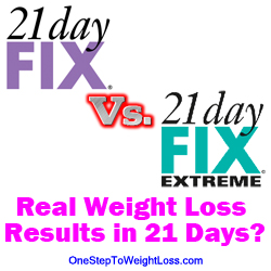 21 Day Fix vs 21 Day Fix Extreme: REAL WEIGHT LOSS
