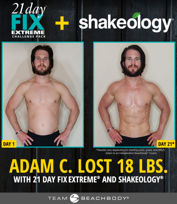 adam 21 day fix extreme before and after results