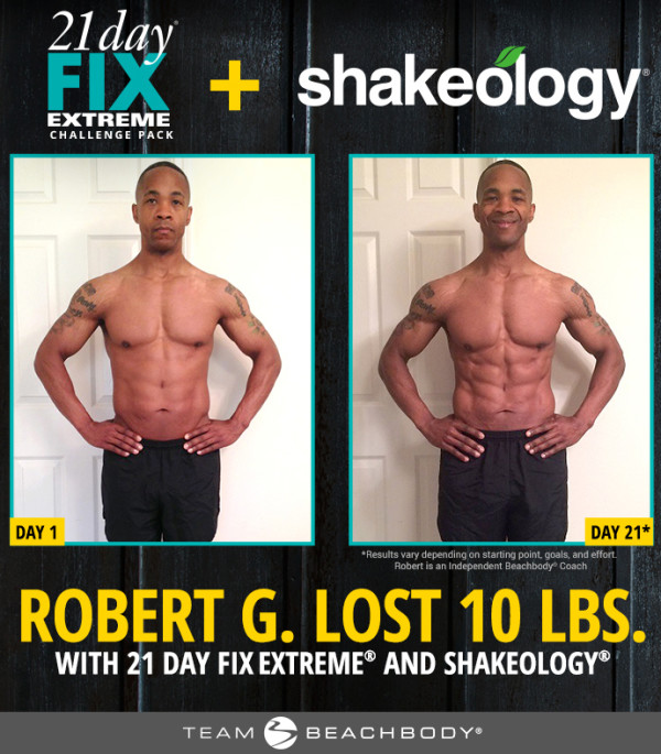 Robert adam 21 day fix extreme before and after results