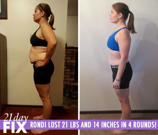 Rondi 21 Day Fix Results Before and After