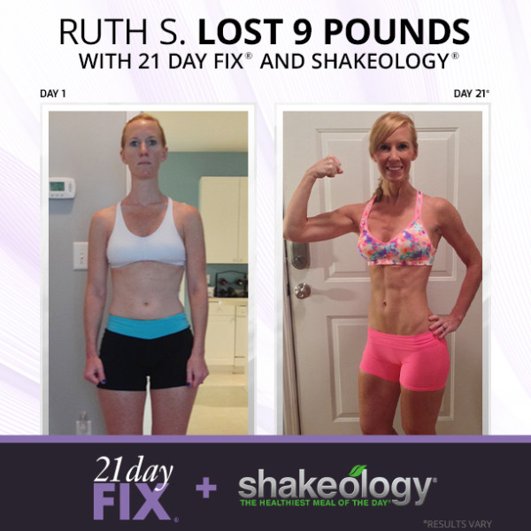 Ruth 21 day fix before and after results