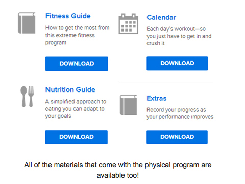 Easily Download All Supporting Documents for the Workout program you want!