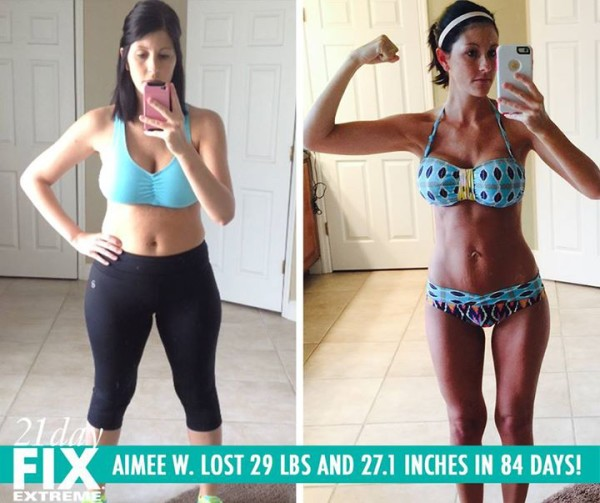 Aimee Found The Workouts Easy To Do For a New Mother! She Lost 27.1 LBS