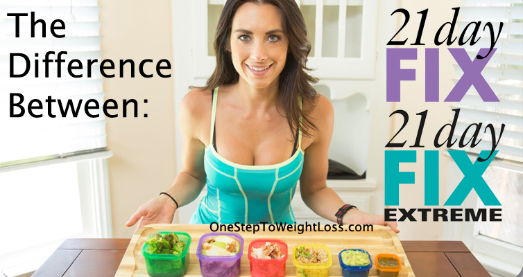 Discover the differences between 21 Day Fix and 21 Day Fix Extreme!