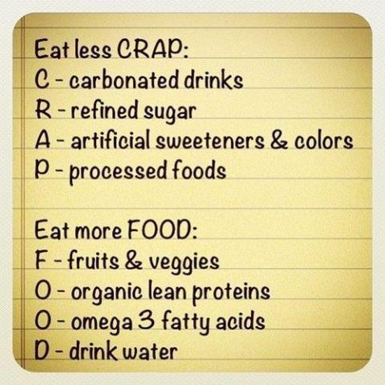 Weight loss is super simple... Just eat less CRAP and eat more FOOD!
