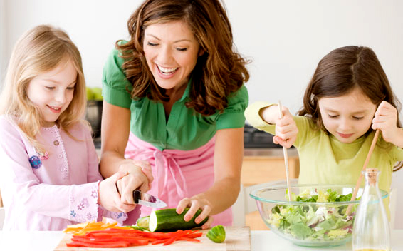Don't be the only one eating healthy, get the family involved as well.