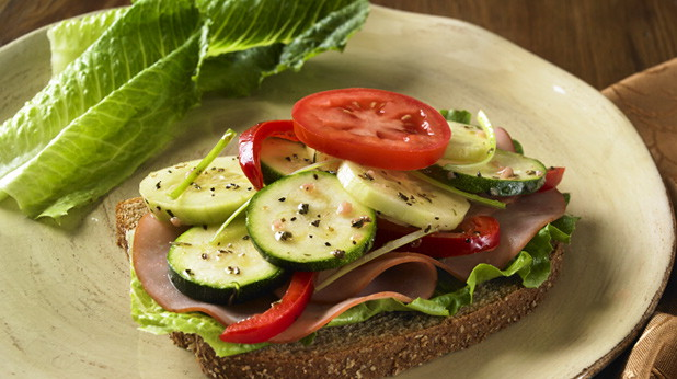 Eating an open faced sandwich can save you around 100 calories!