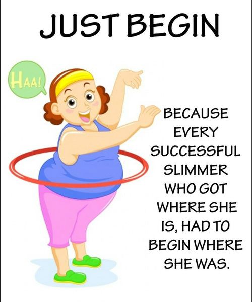 Just Start! Weight loss can't happen unless you start right now!