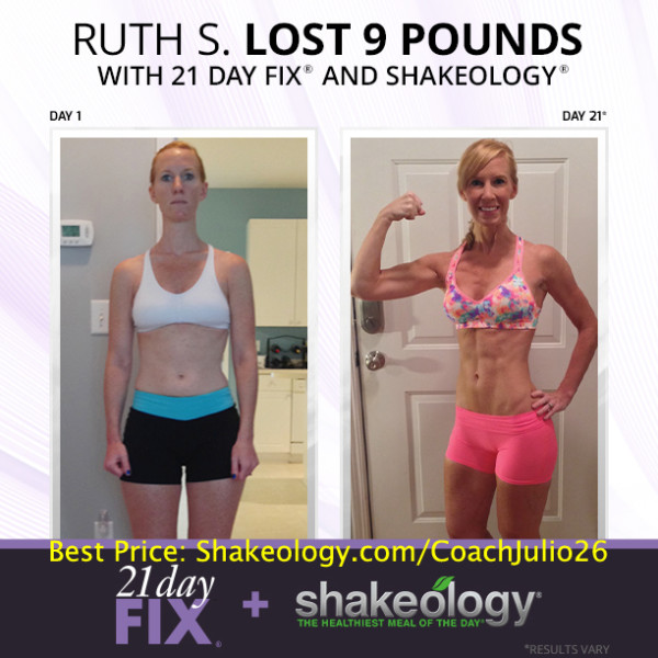 Ruth is Now The Energizer Bunny with 21 Day Fix & Shakeology!