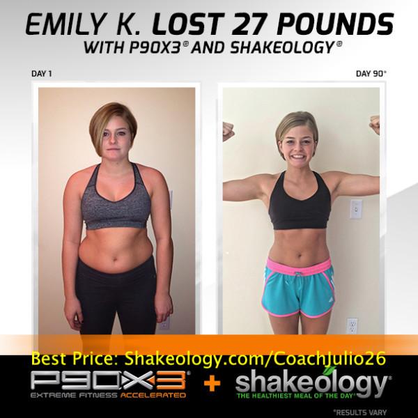 P90X3 & Shakeology Transformed Emily's Life!